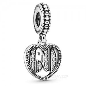 Pandora Jewelry 60 Years of Love Cubic Zirconia Charm in Sterling Silver