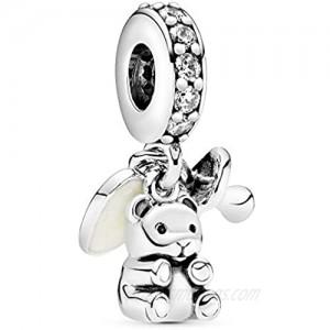 Pandora Jewelry Baby Teddy Bear Dangle Cubic Zirconia Charm in Sterling Silver