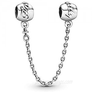 Pandora Jewelry Family Forever Safety Chain Sterling Silver Charm