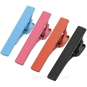 Dannyshi Mens Fashion Skinny Tie Clips Set  Mini Tie Bar Clip Multiple Colors