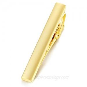 HONEY BEAR Mens Boys Skinny Tie Clip Bar for Narrow Tie Wedding Gift 4cm