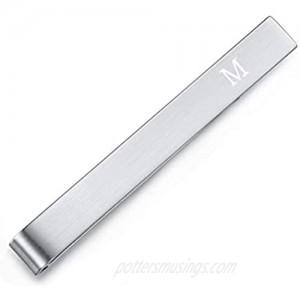 HONEY BEAR Mens Initial Alphabet Letter Tie Clip Bar Normal Size Gift 5.4cm