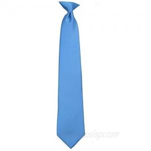 Mens Solid Color Clip On Easy to Remove Clip Necktie Ties