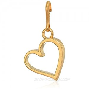 Alex and Ani Women's Heart Charm 14kt Gold Plated  Expandable