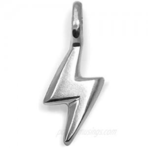 "Alex Woo ""Mini Additions"" Sterling Silver Lightning Bolt Charm"