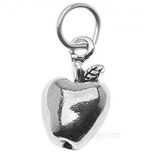 Beadaholique PND-1289 1 Piece Apple Sterling Charm  Antiqued Silver  12mm