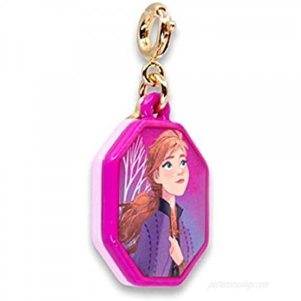 CHARM IT! Charms for Bracelets and Necklaces - Gold Glitter Anna Charm | Frozen II