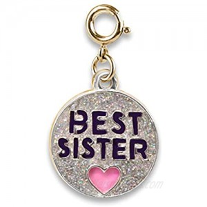 CHARM IT! Charms for Bracelets and Necklaces - Gold Glitter Best Sister Charm