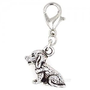 It's All About...You! 3D Puppy Dog Clip on Charm Perfect for Necklaces and Bracelets 103R
