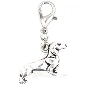 It's All About...You! Dachshund Dog Stainless Steel Clasp Clip on Charm 76P