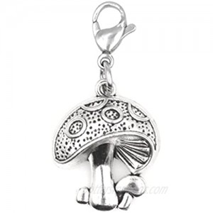 Mushroom Clip on Charm Perfect for Necklaces Bracelets 96Ab