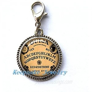 Ouija Board Zipper Pull  Perfect for Necklaces  Bracelets   keychain and earrings Charm planner charm Ouija Board handmade Jewelry