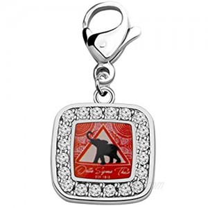 POTIY DST Gift DST Clip-on Charm Jewelry Crystal DST Sorority Sisters Gift