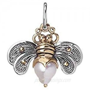 Waxing Poetic Bee Brave Sterling Silver Brass and Pale Pearl Bee Charm