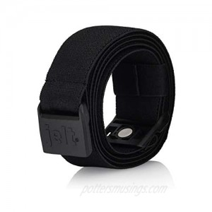 Jelt X Adjustable Elastic Stretch Belt | For Men and Women | Non-Slip | Made in USA | For Outdoors and Everyday