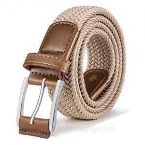 Stretch Belt Men Bulliant Mens Woven Stretch Braided Belt 1 3/8