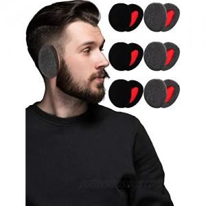 6 Pairs Bandless Ear Warmers Fleece Ear Muffs Ear Covers Unisex Winter Outdoors