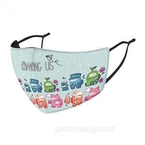 Among US Game Impostor 3D Print Comfy Breathable Mask for Kids Boys and Girls Dust Adjustable Bandana