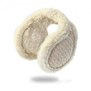 Foldable Soft Ear Muffs Unisex Knit Ear Warmers for Winter Outdoor Ear Muffs For Women Men