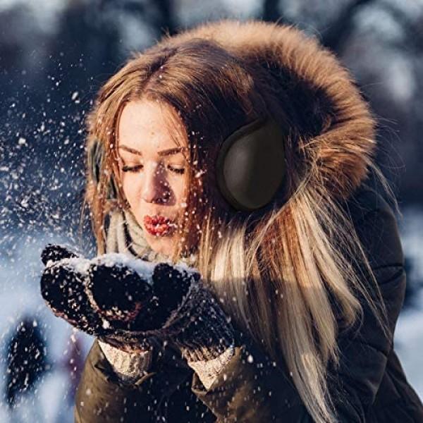 HERMOCO Men Ear Muffs Unisex Foldable Ear Warmers Polar Fleece Winter EarMuffs