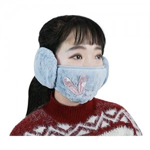 Tongtai Ear Muffs for Winter Women Half Face Cover Ear Warmers Washable Cute