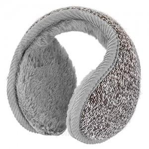 Winter Ear Warmers Unisex Ear Muff Headband Foldable Polar Knit Fleece Earmuffs