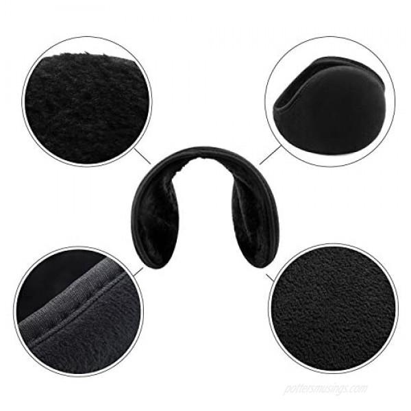 Winter Foldable Ear Warmers Fleece Ear Muffs Classic Winter Outdoor Ear Warmer