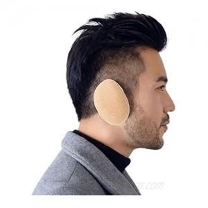 Yokawe Winter Ear Muffs Khaki Warm Bandless Polar Fleece Earmuffs Soft Outdoor Ear Warmers for Women and Men