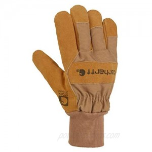 Carhartt Men's Wb Suede Leather Waterproof Breathable Work Glove  Brown  X-Large