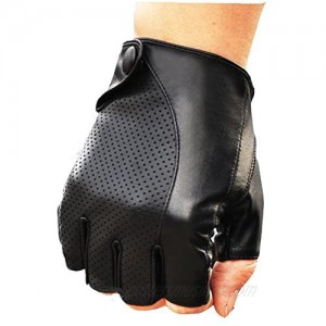 NEW MEN'S PERFORATED WRIST SHEEPSKIN GENUINE LEATHER GLOVE DRIVING DAILY GLOVE