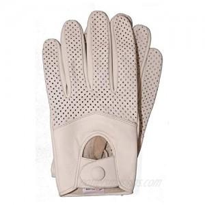 Riparo Motorsports Men's Half Mesh Leather Driving Gloves